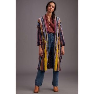 NWT ANTHROPOLOGIE DREAMER STRIPED DUSTER SWEATER
